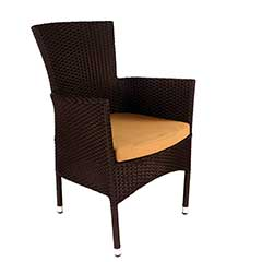 Europa Leisure Stockholm Chair Brown Rattan with Cushion