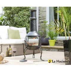 La Hacienda Leon Large Mesh Steel Chiminea - 107cm Height