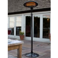 La Hacienda Adjustable Standing Patio Heater - 2000w