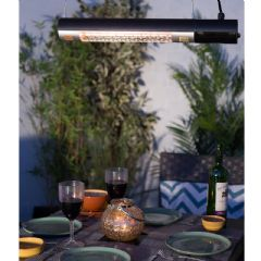La Hacienda Tube Patio Heater with Remote Control - 1500w
