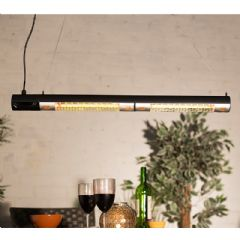 La Hacienda Double Tube Patio Heater with Remote Control - 2200w