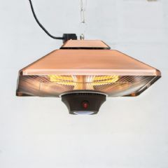 La Hacienda Hanging Patio Heater Copper Square - 2000w