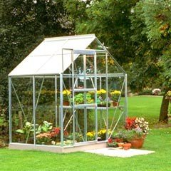 Halls Popular Aluminium Frame Greenhouse Horticultural Glass