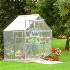 Halls Popular Aluminium Frame Greenhouse 4mm Polycarbonate