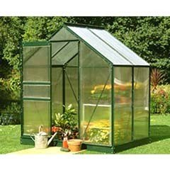 Halls Popular Green Frame Greenhouse 4mm Polycarbonate