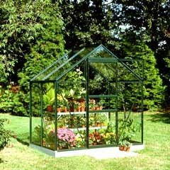 Halls Popular Green Frame Greenhouse Long Pane Toughened Glass