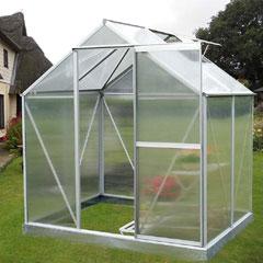 Nison EaZi-Click Polycarbonate Aluminium Greenhouse - 4 x 6ft