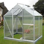 Nison EaZi-Click Polycarbonate Aluminium Greenhouse - 4 x 6