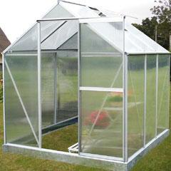 Nison EaZi-Click Polycarbonate Aluminium Greenhouse - 6 x 6ft