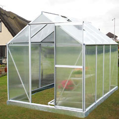 Nison EaZi-Click Polycarbonate Aluminium greenhouse - 8 x 6ft