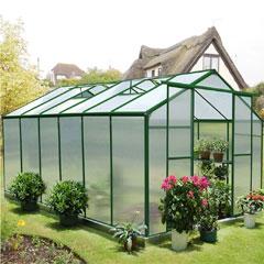 Nison EaZi-Click Polycarbonate Aluminium Greenhouse - 12 x 8ft