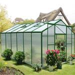 Nison EaZi-Click Polycarbonate Aluminium Greenhouse - 12 x 8
