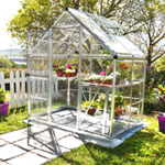 Palram Harmony Clear Glazing Greenhouse - Silver