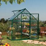 Palram Harmony Clear Glazing Greenhouse - Green