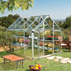 Palram Snap & Grow Greenhouse 8 x 6ft - Silver