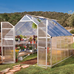 Palram Essence Twin Wall Glazing Greenhouse 12 x 8ft - Silver