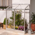 Palram Silver Clear Lean-To Aluminium Frame Greenhouse 4 x 2ft