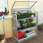Palram Lean-To with Integral Shelves Grow Station 4 x 2