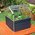 Palram Plant Inn Crystal Clear Raised Bed with Storage Compartment 4 x 4