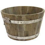 Cadix Acacia Barrel Planter