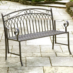 Greenhurst Versailles Steel Folding Garden Bench
