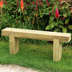Forest Garden FSC Sleeper Bench 1.2m