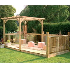 Forest Garden FSC Ultima Pergola Deck Kit 2.4 x 4.8m