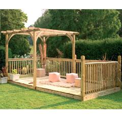 Forest Garden FSC Ultima Pergola Deck Kit
