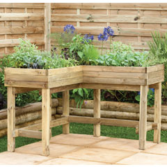 Forest Garden FSC Corner Table Planter
