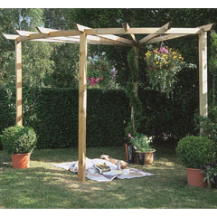 Forest Garden FSC Radial Pergola - 90 Degrees