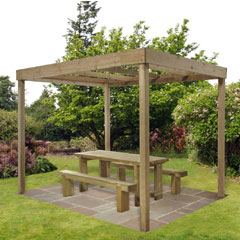 Forest Garden FSC Dining Pergola -Without Panels