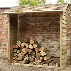 Forest Garden FSC Larchlap Wall Log Store - 6 x 6.5ft