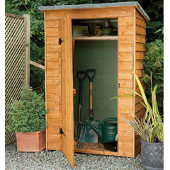 Forest Garden FSC Larchlap Pent Tool Storage Cabinet - 3.5 x 6ft