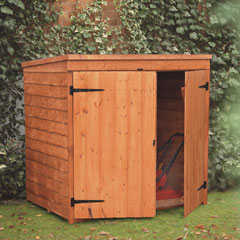 Forest Garden FSC Larchlap Mower Storage Cabinet - 4.5 x 4.5ft