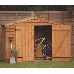 Forest Garden FSC Larchlap Timber Bike Storage Cabinet - 7 x 5ft