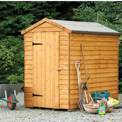 Forest Garden FSC Larchlap Security Overlap Apex Shed 6 x 4ft