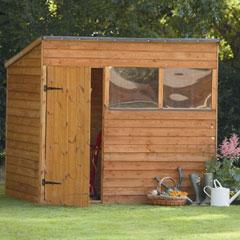 Forest Garden FSC Larchlap Premium Pent Overlap Shed 7 x 5ft