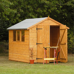 Forest Garden FSC Larchlap Heavy Duty Shiplap Shed 8 x 6ft