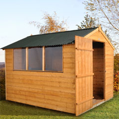 Forest Garden FSC Shiplap Shed with Onduline Roof 8 x 6ft