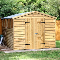 Forest Garden FSC Larchlap Pressure Treated Overlap Apex Workshop 10 x 8ft