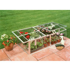 Halls Aluminium ColdFrame 4ft x 2ft - Horticultural Glass