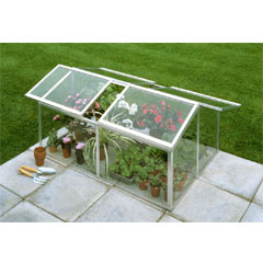 Halls Aluminium Jumbo ColdFrame 4ft x 3ft - Toughened Glass
