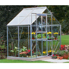 Halls Popular Aluminium Frame Greenhouse Long Pane Toughened Glass