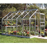Halls Popular Aluminium Frame Greenhouse 6ft x 10ft - Horticultural Glass