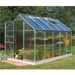 Halls Popular Aluminium Frame Greenhouse 6ft x 10ft - 4mm Polycarbonate