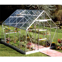 Halls Universal Aluminium Frame Greenhouse 10 x 8ft - Horticultural Glass