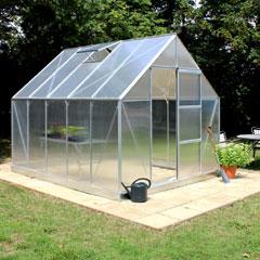 Halls Universal Aluminium Frame Greenhouse 6mm Polycarbonate