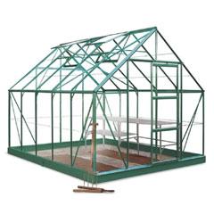 Halls Universal Green Frame Greenhouse Horticultural Glass