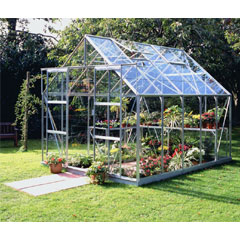 Halls Magnum Aluminium Frame Greenhouse Long Pane Toughened