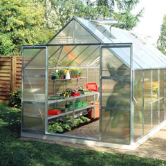 Halls Magnum Aluminium Frame Greenhouse 6mm Polycarbonate